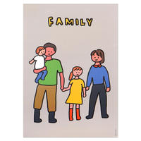FAMILY OF FOUR 3 | A3 poster(受注生産商品)