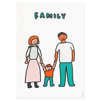 FAMILY2 (OFFSET) | A3 poster(受注生産商品)
