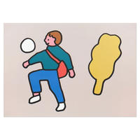 BOY PLAYING BALL | A3 poster(受注生産商品)