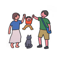 BIG! FAMILY STICKER-FAMILY+CAT | Sticker
