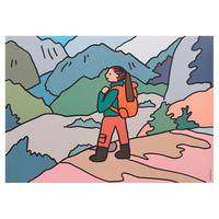 Trekking | A3 poster(受注生産商品)