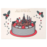 CHOCOLATE CAKE 2 | Christmas card
