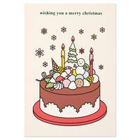 CHOCOLATE CAKE | Christmas card