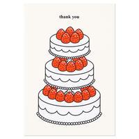 STRAWBERRY CAKE (THANK YOU) | Cake card