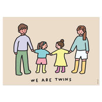TWINS FAMILY (SISTERS) | A3 poster(受注生産商品)
