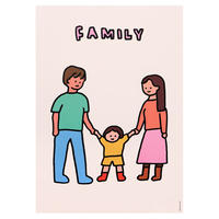 FAMILY 4   A3 poster(受注生産商品)