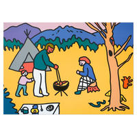 CAMPING HAND   A3 poster(受注生産商品)