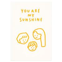 FAMILY SUNSHINE   Pressed Card