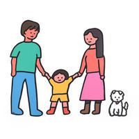 BIG! FAMILY STICKER-FAMILY+DOG | Sticker