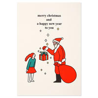 SANTA AND GIRL | Christmas card