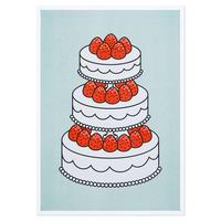 STRAWBERRY CAKE MINT | A3 RISO poster(受注生産商品)