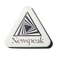 Newspeak / STAINLESS DEKA BADGE (White)