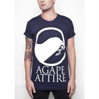 AGAPE ATTIRE / LOGO TEE (NAVY)