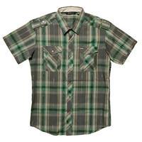 ATTICUS / RANGER ショートスリーブチェックシャツ(グレー)