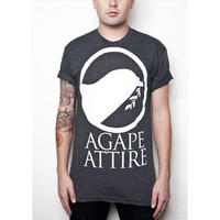AGAPE ATTIRE / LOGO TEE (HEATHER BLACK)