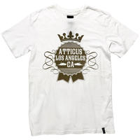 ATTICUS / CROWN Tシャツ(White)