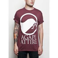AGAPE ATTIRE / LOGO TEE (CRANBERRY)