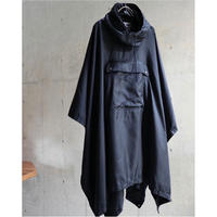 90S POLO SPORT COATING POLYESTER DESIGN POCKET PULLOVER HOODIE PONCHO