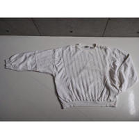 80s COTTON KNIT SWITCHING SWEAT with SIDE POCKET