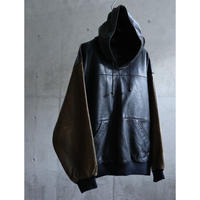 90s 3tone Genuine Leather pullover anorak