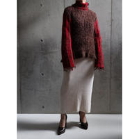 80S FRANCE DAMAGE PROCESSING MOHAIR SWEATER