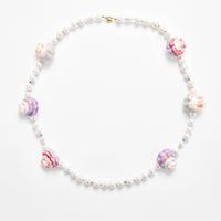 Macaron Doll Pink Handmade Necklace-マカロンドール・ネックレス-