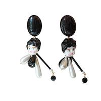 Big Head Doll Ear Clips-ビッグ・ヘッド・ドール・イヤリング