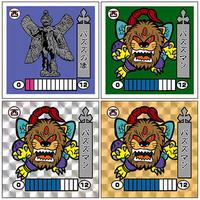 第2弾「妖怪レスラー」パズズの像(パズズマン)4枚セット