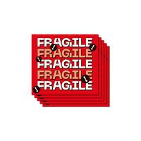 FRAGILE STICKER x5