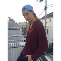 ladies sailor shirt  burgundy × black