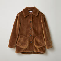 fake fur jacket / brown