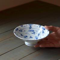 平碗 藍染唐草