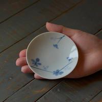 豆皿 藍花