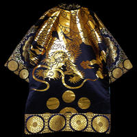 Brocade Haori Black Dragon
