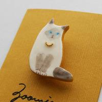 気高いバーマン猫ちゃんのブローチ ー Brooch  ー