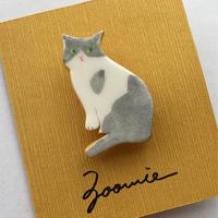 ハチワレ猫ちゃんのブローチ ー Brooch  ー