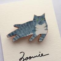 まったりサバトラ猫ちゃんのブローチ ー Brooch  ー