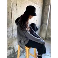 stitch hoodie【St010-GRY】