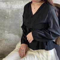 peplum blouse -black-