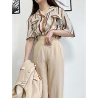 vintage brown shirt [Vsh006]