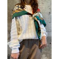 euro vintage white knit [Vk038]