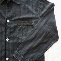 men's balacking work shirt【white stitch】[Vsl003]