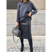 eco leather skirt  [Vs047]
