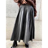 eco leather pleated skirt  [Vs065]