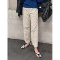 uncut wide pants -cream-【Sp001-CRM】