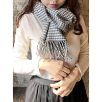 gray check scarf  [Vi108]