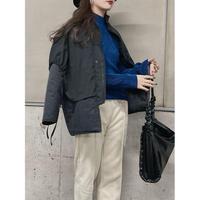 【即納】layered quilting short down coat【So001】