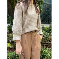 crochet beige knit [Vk031]