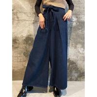denim wide pants [Vp094]