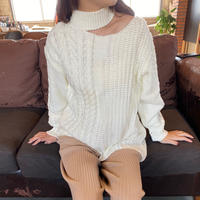 cable knit (black)